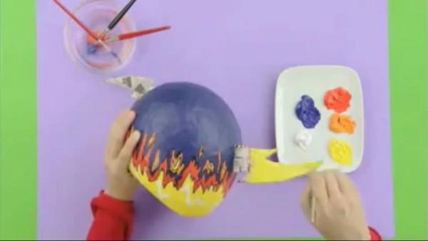 Con un rotulador podemos hacer un boceto para luego pintar sobre él