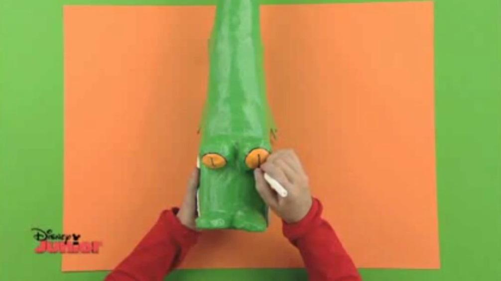 Cocodrilo verde manualidades de papel - Videos de art attack manualidades ...