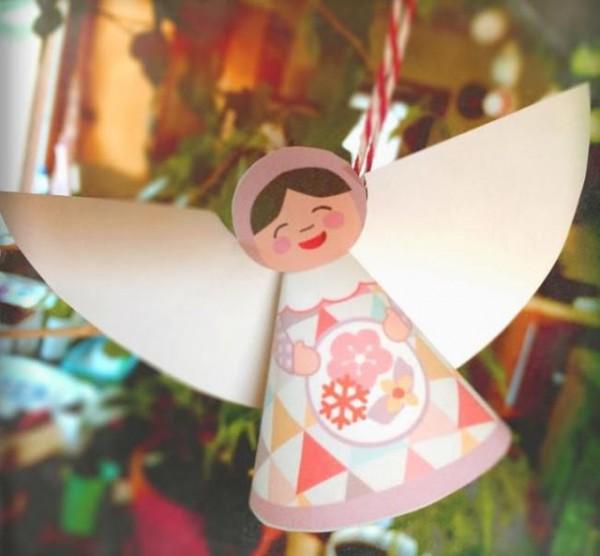 Papercraft ngeles de navidad para el rbol manualidades - Angeles de navidad manualidades ...